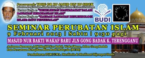 Seminar Perubatan Islam (SEPIM) 09.02.2013 (Sabtu) Masjid Nur Bakti, Wakaf Baru, Jalan Gong Badak, K. Terengganu